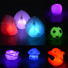 New 7Color Romantic Changing LED Floating Rose Mushroom Apple Candle Night Light