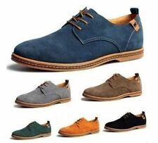 2017 New Suede European Style Leather Shoes Men Lace up Casual Oxfords Shoes