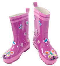 NEW Kidorable Butterfly Girls Toddlers Kids Wellies Rain Boots Gumboots