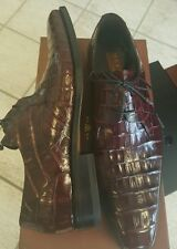 MEZLAN SHOES 13584 ANDERSON. BURGANDY. CROCODILE. SIZE 11, 13. MENS SHOES