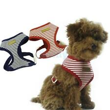 Dog Puppy Cat Striped Control Harness Walking Collar Safety Strap Vest XS-XL
