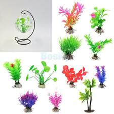 Artificial Aquatic Water Green Grass Plastic Plant Aquarium Tank Decor
