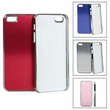 Aluminum Luxury Brushed Chrome Hard Back Case Cover Skins For iPhone 5 5S