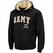 Army Black Knights Stadium Athletic Arch & Logo Full Zip Hoodie - Black - NCAA