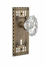 Nostalgic Warehouse Chateau Interior Mortise Door Knob with Craftsman Plate