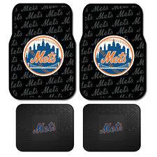New Set MLB New York Mets Car Truck Front / Back All Weather Rubber Floor Mats