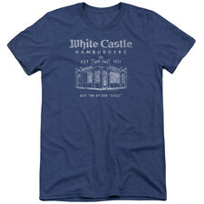 White Castle By The Sack Mens Tri-Blend Short Sleeve Shirt ROYAL