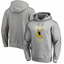 Pittsburgh Steelers NFL Pro Line Throwback Logo Pullover Hoodie - Gray - NFL