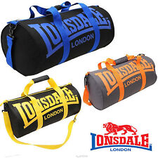 LONSDALE BARREL GYM SPORTS FITNESS RUNNING BAG HOLDALL TRAVEL SHOULDER BAG NEW