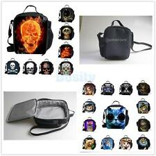 Skull/ Cat Insulated Tote Thermal Lunch Bag /Cool Bag/Lunch Box/Picnic Bag