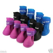 Dog Candy Colors Boots Waterproof Rubber Pet Rain Shoes Puppy Silicone Booties