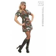 Ladies Womens Us Army Soldier Girl Costume Outfit for Military War Fancy Dress