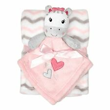 BABYGEAR BABY GEAR PINK GRAY WHITE ZEBRA CHEVRON HEART STRIPE GIRL BLANKET PLUSH