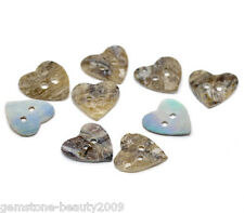 Wholesale HOT! Mother of Pearl Heart Sewing Buttons Scrapbooking 15*15mm