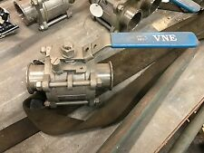 """VNE Stainless Steel A3 Manual 2-Way Ball Valve 2 1/2""""  1000 WOG CF8M  68-00"""