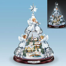 THOMAS KINKADE ANGELS LIGHTS MUSIC BLESSINGS OF THE SEASON TREE VILLAGE HOLIDAY