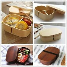 Natural Wood Lunch Bento Box Boxes Food Storage Sushi Snack Fruit Container Case