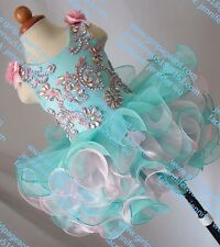 INFANT/TODDLER/BABY/CHILDREN/KIDS CRYSTAL BEADED PAGEANT PARTY DRESS G070A