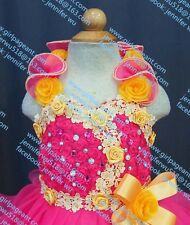 INFANT/TODDLER/BABY/CHILDREN/KIDS LACE BEADED PAGEANT PARTY DRESS G099-1