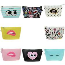 Toiletry Organizer Cosmetic PU Make Up Bag Pouch for Sunglasses Pencils Lipstick