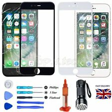 For Apple iPhone 7 Broken Front Glass Screen Lens Replacement+Toosl+Glue+Light