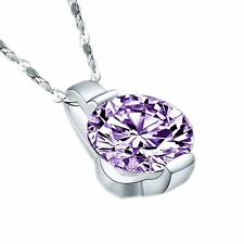 Fashion Brand New Crystal Jewelry New Zircon Necklace Pendant Silver Plated