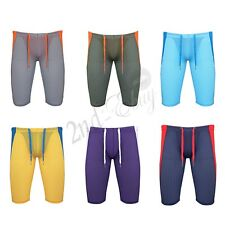 Mens Swim Trunks Sports Boxer Briefs Running Tights Stretch Shorts Workout Pants