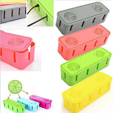 Power Outlet Board Cables Strip Wire Case Storage Box Organizer Supplies