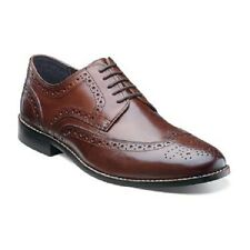 Nunn Bush mens shoes Nelson Brown Leather Wing tip oxford Lace Up  84525-200