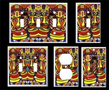 AFRICAN COLORFUL FACES ABSTRACT  LIGHT SWITCH COVER PLATE