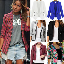 Fashion Women Slim Fit Blazer Business Suit Short Jacket Coat Winter Outwear New