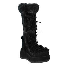 Demonia By Pleaser Women's Cubby-311 Boot - Faux Suede GoGo Boots