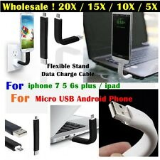 20/10/5*Bendable Short Flexible USB Sync Charging Cable For iphone Android Lot