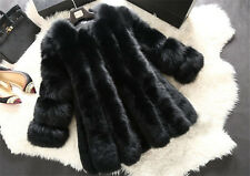 2017 Women Faux Fur Long Sleeve Warm Jacket Coat Fake Fox Fur Coat Worth Jacket
