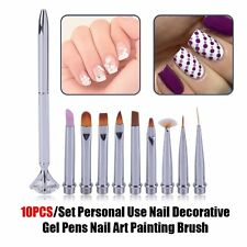 10PCS/Set Personal Use Nail Decorative Gel Pens Nail Art Painting Brush#F5