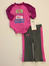 NWT Infant Girl's Under Armour One Team One Dream 2 Piece Outfit