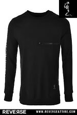 Religion Crew Neck Taped Sweatshirt - Black - Gym King, GfN, Sinners, Sixth June