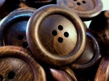 VERY LARGE NATURAL ITALIAN OLIVE WOOD BUTTONS 38mm WALNUT-W1449 - MADE IN ITALY