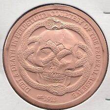 """1 Oz. Fine Copper Bullion Round """"Federal Reserve"""" From Arise Series"""