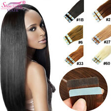 100% Remy Tape in Hair Extensions Skin Weft Remy Straight Human Hair 50g 20Pcs