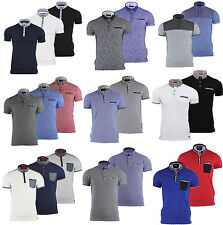 Mens Polo T-Shirt by Brave Soul Collar Short Sleeved Casual Summer Top S M L XL