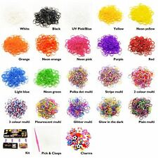 600pcs Colourful Loom Bands Rubber Twistz Bandz DIY Bracelet Refill Kit