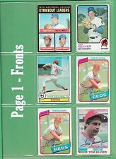 Tom Seaver Topps and Donruss cards - 1971 to 1987 - NM/MT