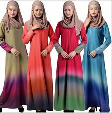 Muslim long dresses Women Abaya Kaftan Islamic Clothing Cocktail maxi dress New