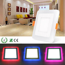 High Power LED Recessed Ceiling Panel Light Bulb White Rose Red Blue RGB Square