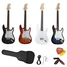 New ST Size Electric Guitar Beginners+ Gig Bag Picks Strap +Free Ship Xmas Gift