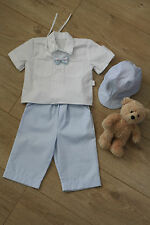 BABY BOY Party Christening Baptism Outfit light blue  white shirt 3-6 months NEW