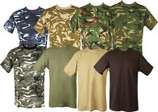 MENS MILITARY TACTICAL CAMOUFLAGE CAMO T SHIRT ARMY COMBAT NEW COTTON HUNTING