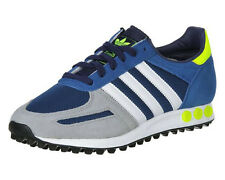Mens adidas LA Trainer Blue Grey Retro Sneakers Fashion Trainers Shoes Size 7-11