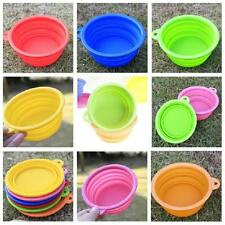 Dog Cat Collapsible Pet Feeding Bowl Silicone Dish
